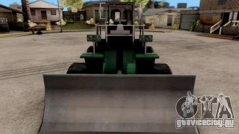 Paintable Dozer для GTA San Andreas вид изнутри