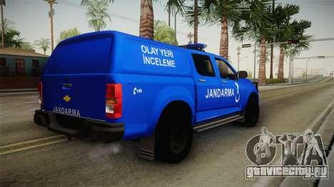 Chevrolet S10 Turkish Gendarmerie CSI Unit для GTA San Andreas вид справа