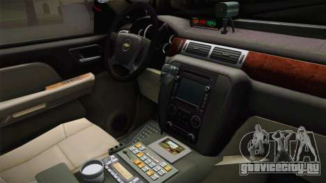 Chevrolet Tahoe 2013 Iowa State MVE для GTA San Andreas вид изнутри