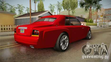 GTA 5 Enus Diamond Coupè IVF для GTA San Andreas вид сзади слева
