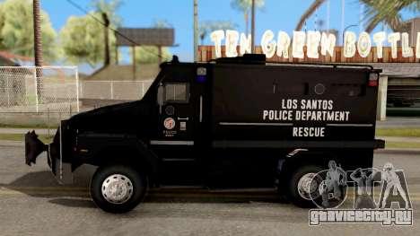 BearCat SWAT Truck для GTA San Andreas вид слева
