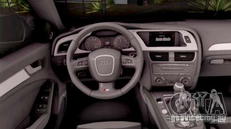 Audi S4 Croatian Police Car для GTA San Andreas вид изнутри