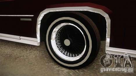 Cadillac Fleetwood Brougham Low Rider 1980 для GTA San Andreas вид сзади