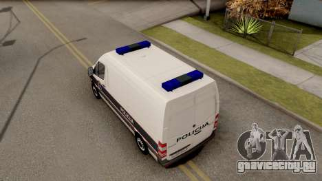 Mercedes-Benz Sprinter BIH Police Van для GTA San Andreas вид сзади