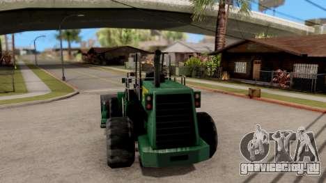 Paintable Dozer для GTA San Andreas вид сзади слева