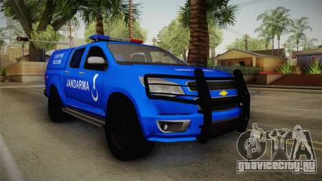Chevrolet S10 Turkish Gendarmerie CSI Unit для GTA San Andreas
