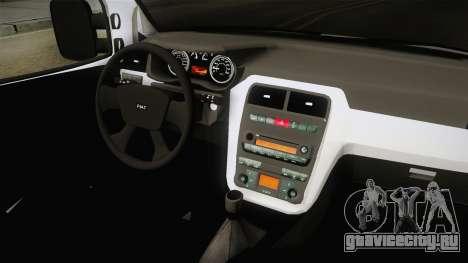 Fiat Doblo 2008 для GTA San Andreas вид изнутри