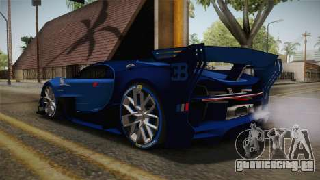 Bugatti Vision GT для GTA San Andreas вид слева