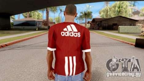Adidas T-Shirt Red для GTA San Andreas третий скриншот