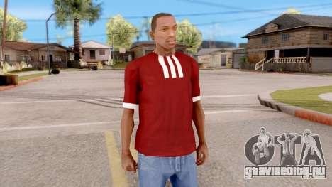 Adidas T-Shirt Red для GTA San Andreas второй скриншот