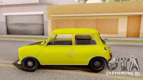 Mini Cooper 1300 Mr Bean для GTA San Andreas вид слева