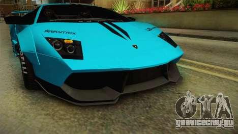 Lamborghini Murcielago LP670-4 SV Liberty Walk для GTA San Andreas вид сверху