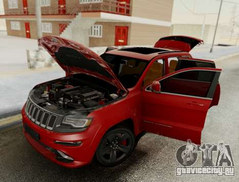 Jeep Grand Cherokee SRT 8 для GTA San Andreas вид сзади