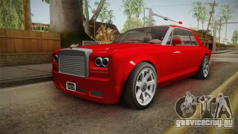 GTA 5 Enus Diamond Coupè IVF для GTA San Andreas