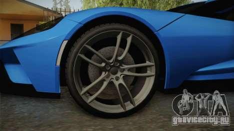 Ford GT 2017 для GTA San Andreas вид сзади