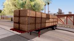 FlatBed Trailer From American Truck Simulator для GTA San Andreas