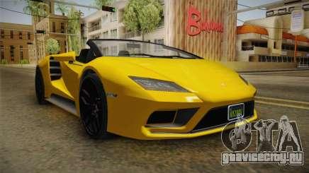 GTA 5 Pegassi Tempesta Spyder IVF для GTA San Andreas