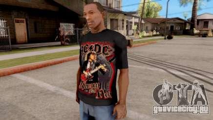 Black T-Shirt AC/DC для GTA San Andreas