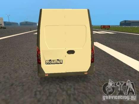 ГАЗель Next цельнометаллический фургон для GTA San Andreas вид справа