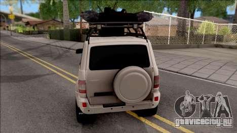 УАЗ Patriot Off-Road для GTA San Andreas вид сзади слева