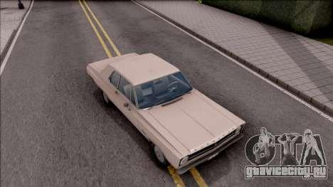 Plymouth Belvedere 1965 для GTA San Andreas вид справа