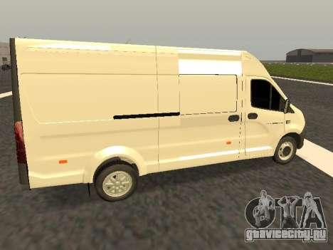 ГАЗель Next цельнометаллический фургон для GTA San Andreas вид слева