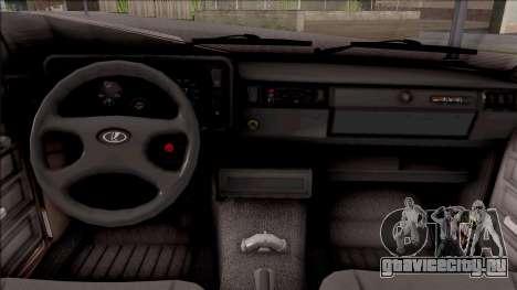 ВАЗ 2105 БК для GTA San Andreas вид изнутри