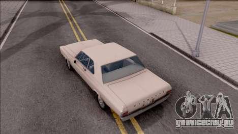 Plymouth Belvedere 1965 для GTA San Andreas вид сзади