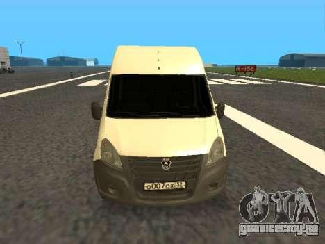 ГАЗель Next цельнометаллический фургон для GTA San Andreas вид сзади слева
