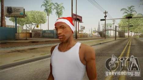 Красная шапка Санты Клауса для GTA San Andreas третий скриншот
