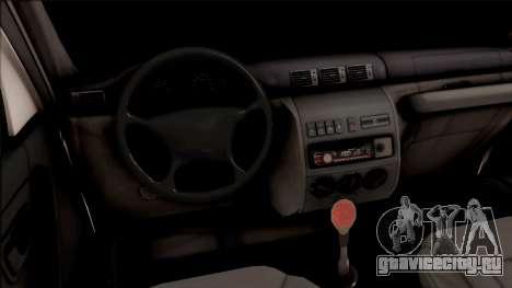 УАЗ Patriot Off-Road для GTA San Andreas вид изнутри