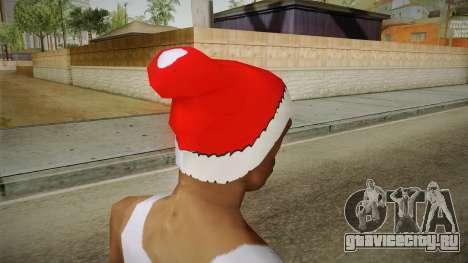 Красная шапка Санты Клауса для GTA San Andreas второй скриншот