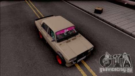 ВАЗ-2107 Боевая Классика для GTA San Andreas вид справа