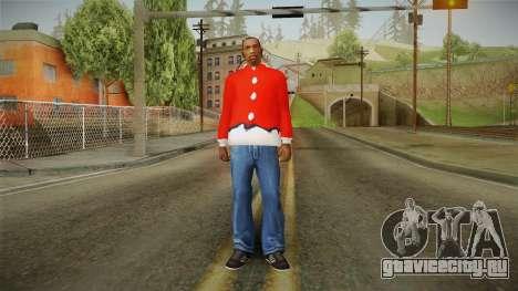 Красная куртка Санта Клауса для GTA San Andreas третий скриншот