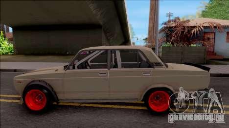 ВАЗ-2107 Боевая Классика для GTA San Andreas вид слева
