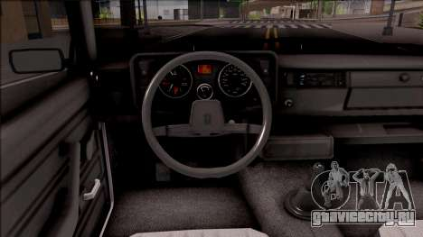 ВАЗ 2105 для GTA San Andreas вид изнутри