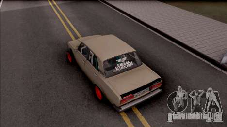 ВАЗ-2107 Боевая Классика для GTA San Andreas вид сзади