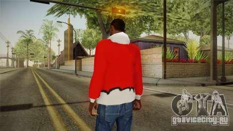 Красная куртка Санта Клауса для GTA San Andreas второй скриншот