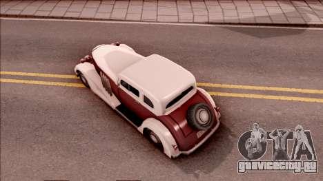 Hustler Sport для GTA San Andreas вид сзади