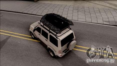 УАЗ Patriot Off-Road для GTA San Andreas вид сзади