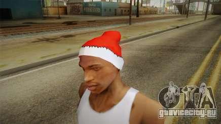 Красная шапка Санты Клауса для GTA San Andreas
