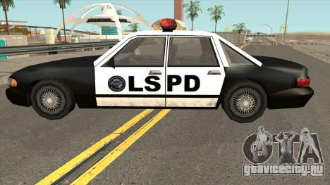 Echo Police SA Style для GTA San Andreas вид слева