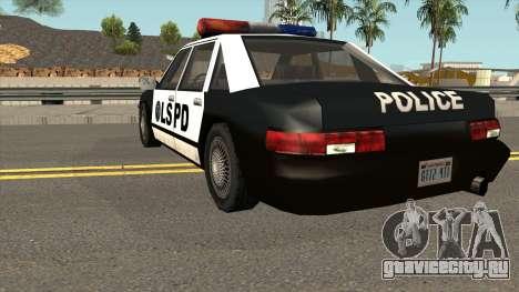 Echo Police SA Style для GTA San Andreas вид сзади слева