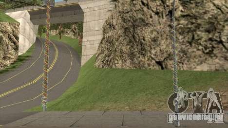 Фонари и Столбы Украшенные Гирляндами для GTA San Andreas