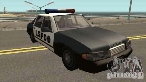 Echo Police SA Style для GTA San Andreas вид изнутри