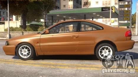 Volvo C70 1999 для GTA 4 вид слева