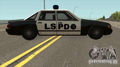 Echo Police SA Style для GTA San Andreas вид сзади
