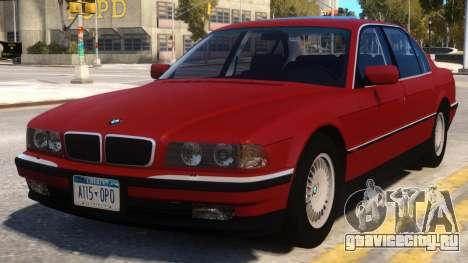 BMW 750 iL e38 для GTA 4