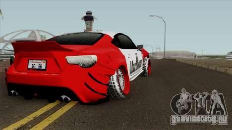 Subaru BZR 2016 для GTA San Andreas