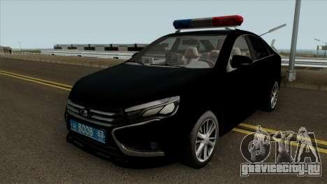Lada Vesta Traffic Police v2 для GTA San Andreas